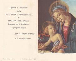 Calendarietto Tascabile La Vergine Col Bambino - Anno 1965 - Calendari