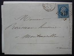 Belabre 1863 Gc 418 (Indre), Lettre Pour Montmorillon (Vienne) - Marcofilie (Brieven)