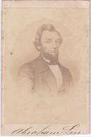 PHOTO PHOTOGRAPH - PHOTOGRAPHY   - U.S PRESIDENT ABRAHAM  LINCOLN   - 9,6  Cm X 6,1 Cm - Famous People