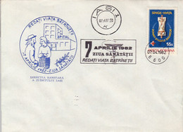 90581- WORLD HEALTH DAY, HEALTH, SPECIAL COVER, 1982, ROMANIA - Health