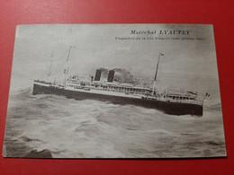 BATEAUX / MARECHAL LYAUTEY / PAQUEBOT DE LA Cie PAQUET ( Par Grosse Mer ) - Piroscafi