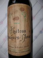 BOUTEILLE DE VIN PLEINE . 1964 . CHATEAU JACQUES - BLANC . SAINT EMILION . CHOUET-SEYRAC . PROPRIETAIRES A St- ETIENNE- - Vin