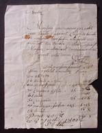 Manuscrit Post Révolution Française - Missive Adressée Au Sieur Bouvet De Saint-Flour Dans Le Cantal - Manuscrits
