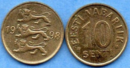 Estonie   10 Senti 1998 - Estonia