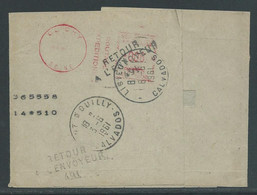 "Drukwerkband 3.6.1961 ""Retour A L'envoyeur"" - France"