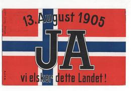 Noorwegen Norway Norge - August Ja Vielsker Dette Landet - 1905 - Noruega
