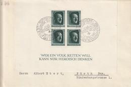 Allemagne Bloc N°8 Sur Lettre 1937 - Brieven En Documenten