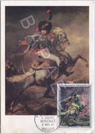 Carte Maximum (FDC) (1962) - France (Rouen) - Officier Chasseurs De La Garde (Géricault) (Recto-Verso) - 1960-69