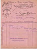 Hte VIENNE: BARATAUD & GIBOIN, Fabriques Papiers & Sacs En Tous Genres à St Junien / Fact De 1915 Pour Pons - Drukkerij & Papieren