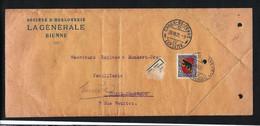 SUISSE 1921: LSC De La Chaux-de-Fonds Pour Genève Avec Le ZNr.J19 Et Obl. CAD - Pro Juventute