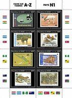 NIGER 2020 - WWF Fauna On Stamps N1, Official Issue [NIG200218a1] - Briefmarken Auf Briefmarken