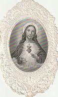 """WA 1- """" O JESUS , OUVREZ NOUS LES SAINTES RETRAITES DE VOTRE COEUR ..  """"- IMAGE  DENTELEE CANIVET- MAISON BASSET , PARIS - Andachtsbilder"""