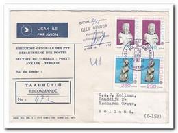 Turkije 1974, Registered Letter To Netherland, Europe Cept Stamps - 1921-... République