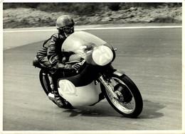 1963 350 RACE B LAWTON AJS  21*16Cm Motocross Course De Motos MOTORCYCLE - Sport