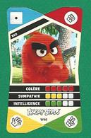 VARIÉTÉS COLLECTOR 2020  ANGRY BIRDS 1 / 40 RED CORA  BAS DENT A DROITE DOS - Sammelkartenspiele (TCG, CCG)