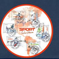 France 2020. Bloc Sport Couleur Passion.cachet Rond Gomme D'Origine - Sheetlets