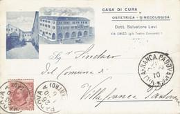 Padova Cartolina Pubblicitaria Casa Di Cura Ostetrica Ginecologia Dott Salvatore Levi FP P553 - Padova (Padua)