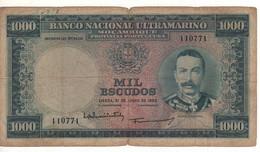MOZAMBIQUE  1'000 Escudos  P105  Dated 31.7.1953  ( Mousinho De Albuquerque ) - Mozambique