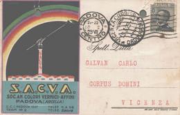 Padova Cartolina Pubblicitaria SACVA Colori E Affini FP P556 - Padova (Padua)