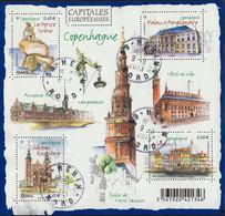 France Oblitération Cachet à Date BF N° F 4637 - Capitales Européennes - Copenhague - Sheetlets