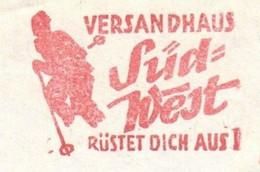EMA METER STAMP FREISTEMPEL ULM GERMANY 1968 Sci Winter Sport Ski Versandhaus Süd West Rüstet Dich Aus - Skiing
