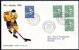 SWEDEN 1963 Ice Hockey FDC.  Michel 502-03 - FDC