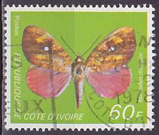 Timbre Oblitéré N° 469(Yvert) Côte D'Ivoire 1978 - Papillon - Costa D'Avorio (1960-...)