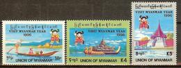 BIRMANIE N°238/240** - COTE 12.50 € - Myanmar (Burma 1948-...)