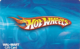 USA - Hot Wheels, Walmart Magnetic Gift Card, Unused - Comics
