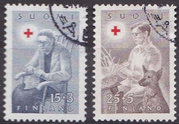 FI089 – FINLANDE – FINLAND – 1954 – RED CROSS FUND – Y&T 406/07 USED - Finlande