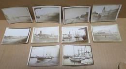 OSTENDE (Belgique) Ensemble De 10 Photographies Anciennes Vues Diverses 1899 - Oostende