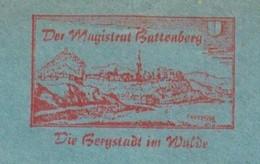 EMA METER STAMP FREISTEMPEL HILLS LANDSCAPES BUTTENBERG EDER Auszug Aus Der Topographia Hassiae Von Matthäus Merian 1655 - Altri