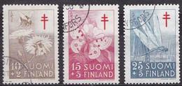 FI091 – FINLANDE – FINLAND – 1954 – ANTI-TUBERCULOSIS FUND – Y&T 417/19 USED 10,50 € - Finlande