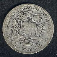Venezuela, 2 Bolivares 1930, Silber, Rare Date - Venezuela