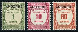 Andorra Francesa Nº Tasa-9-10-11 Nuevo* - Unused Stamps