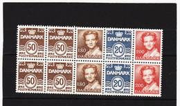 DDT661 DÄNEMARK 1982 HB 19 ** Postfrisch  SIEHE ABBILDUNG - Danimarca