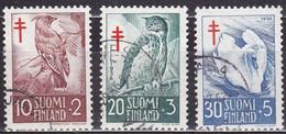 FI096 – FINLANDE – FINLAND – 1956 – ANTI-TUBERCULOSIS FUND – SG 561/63 USED - Finlande