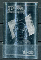 STAFFA SCOTLAND VIGNETTE NON DENTELEE ARGENT DU GENERAL DE GAULLE - De Gaulle (Generale)