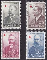 FI097 – FINLANDE – FINLAND – 1956 – RED CROSS FUND – Y&T 448/51 USED 9 € - Finlande
