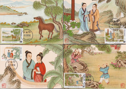 """TAIWAN 1992, """"Classical Chinese Poems"""", Serie MAXICARDS, FD-cancelled, Cards Unused - 1945-... Repubblica Di Cina"""