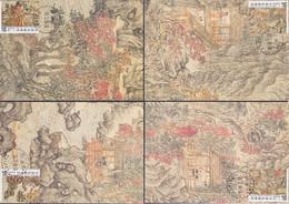 "TAIWAN 1996, ""Buildings Near Chu-chu"", Serie MAXICARDS, FD-cancelled, Cards Unused - 1945-... Repubblica Di Cina"