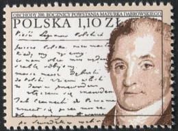 Poland 1997, Mi 3667, Polish National Anthem, Józef Wybicki, Music, Folk, Song, Polish Legions, Lyrics **MNH - Scrittori