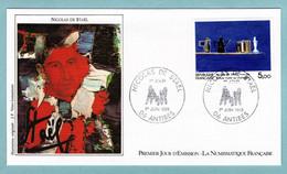 FDC France 1985 - Nicolas De Staël - Nature Morte Au Chandelier - YT 2364 - 06 Antibes - 1980-1989