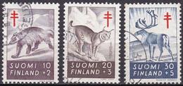 FI099 – FINLANDE – FINLAND – 1957 – ANTI-TUBERCULOSIS FUND – Y&T 458/60 USED 8 € - Finlande