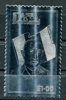 STAFFA SCOTLAND VIGNETTE DENTELEE ARGENT DU GENERAL DE GAULLE - De Gaulle (Generale)