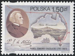 Poland 1997, Mi 3668 Sir Paweł Edmund Strzelecki - Polish Explorer, Geologist, Philanthrope, Australia Exploration **MNH - Esploratori
