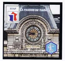 VaI115 FFAP Y.T N° 6 PARIS 85ème Congrés 2012 La Passion Du Timbre N** MNH Bloc Feuillet F.F.A.P - FFAP