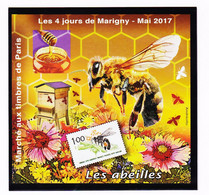 VaI133 Y.T N°29a ( NON-DENTELE ) PARIS Marché Aux Timbres Les 4 Jours De MARIGNY Mai 2017 ABEILLES Bloc Gommé N** MNH - CNEP