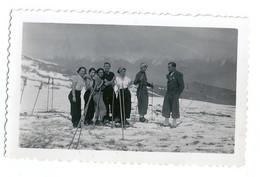 Photo Groupe De Skieurs Comborcière La Toussuire En 1936 - Persone Anonimi