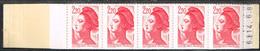 2376-C2 Liberté 2,20F Conf 7  Code Postal Ouvert Daté 14/06/85 Petite Souillure Au Verso De La Couverture 205 - Definitives